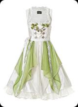 Janina - leichtes Dirndl in grün weiß