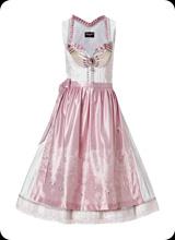 Jasmin - Dirndel kleid ohne Arm in rosa glanz