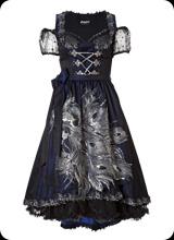 Raffela - kurzarm Trachtenkleid in schwarz