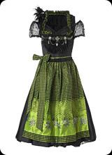 Ricarda - klassiche Trachtenmode in schwarz grün