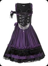 Scarlett - Tracht in violett schwarz