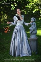 Venezia - edles Kleid in silber lang