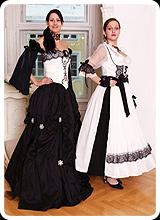 Gabriella - Brautmode Tracht in schwarz weiss