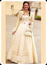 Sissi - Brautdirndl mit Bollero beige
